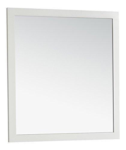 Simpli Home Chelsea - Espejo de baño de cambiador, 81 x 86 cm, color negro, 32 by 34-Inch, Blanco Suave