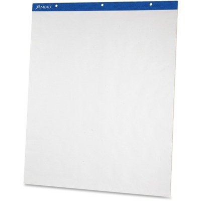 Ampad Products - Ampad - Envirotec Flip Chart Pads, Unruled, 27 x 34, White, 2 50-Sheet Pads/Pack - Sold As 1 Carton - Punched at top to fit standad easels. - Pinhole perforations secure sheet until removed. - White. by Ampad
