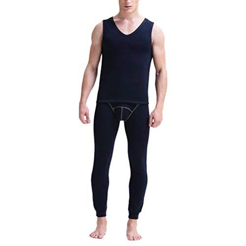 Abiti Pigiama Mens Intimo Pile Maniche Johns Winter Senza Termico Nightwear In Taglie Set Good Blu Comode Gilet Warm Long Scuro Hx Fashion 4HFaq