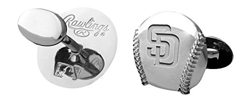 MLB San Diego Padres Engraved Cuff Links - Diamond Engraved Cufflinks