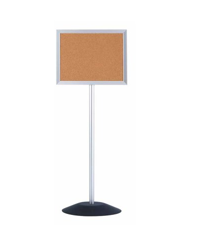Single Pedestal Free-Standing Bulletin Board Style: Acrylic Cover