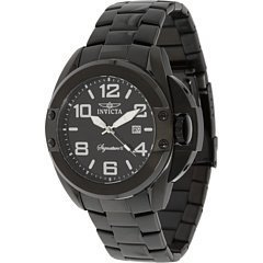 Invicta Signature II Black Dial Black Ion-plated Stainless Steel Mens Watch 7332