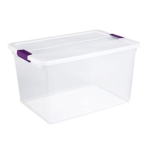 6 Pack Sterilite 17571706 66-Quart ClearView Latch Box Storage Tote Container by BLOSSOMZ
