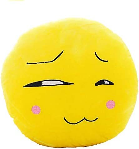 Emoji Emoticonos Almohada Felpa Coj/ín Cojines Almohada Redonda no es feliz
