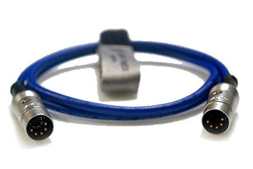 Pro Synthesiser Studio DIN SYNC 24/48 Lead 5Pin Male to 5Pin Male [0.5m Blue]