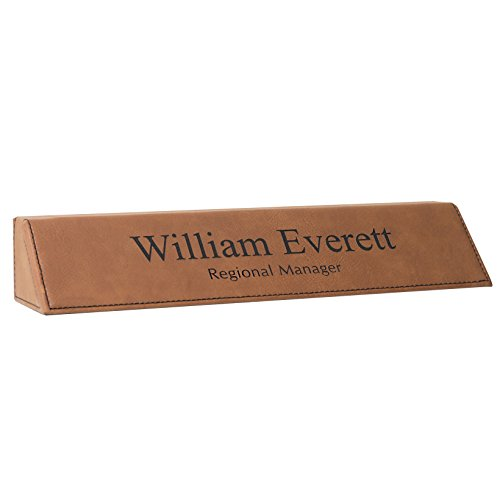 - Personalized Desk Name Plate Rawhide Leather, 2 x 10 | Naag Tag Inc.