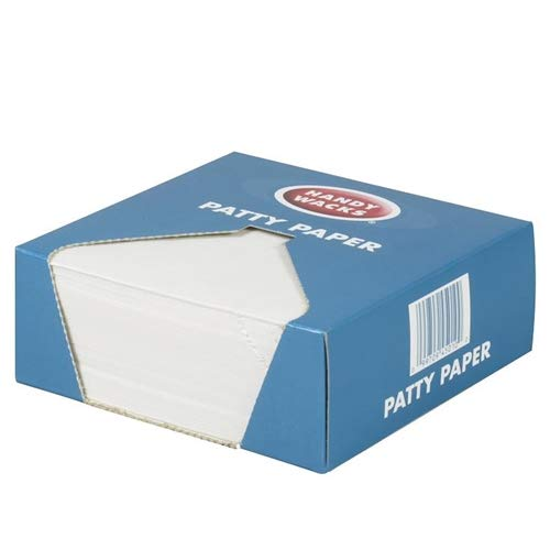 Handy Wacks 3 Hole Drilled Patty Paper, 5.5 x 5.5 inch - 24 per case. by Restaurant Pros (Image #1)