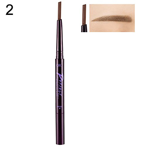 angel3292 Hot sale Double Head Waterproof Automatic Rotating Eyebrow Pencil with Brush Makeup Tool Bed Head Pencil Sharpener