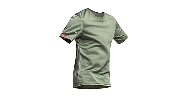 2d6f48ef494c Amazon.com   OLQMY-Men s Short Sleeve Bike T-shirt Quick Dry Ultraviolet  Resistant Moisture Permeability Breathable Sweat-wicking   Sports   Outdoors