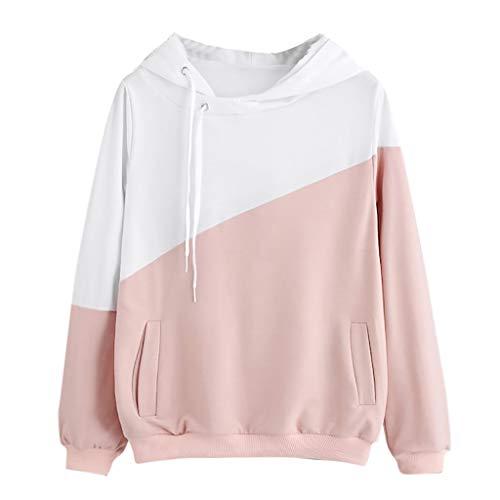 Fashion Women Hoodie Jumper Long Sleeve Color Block Sweatshirt Pullover Tops