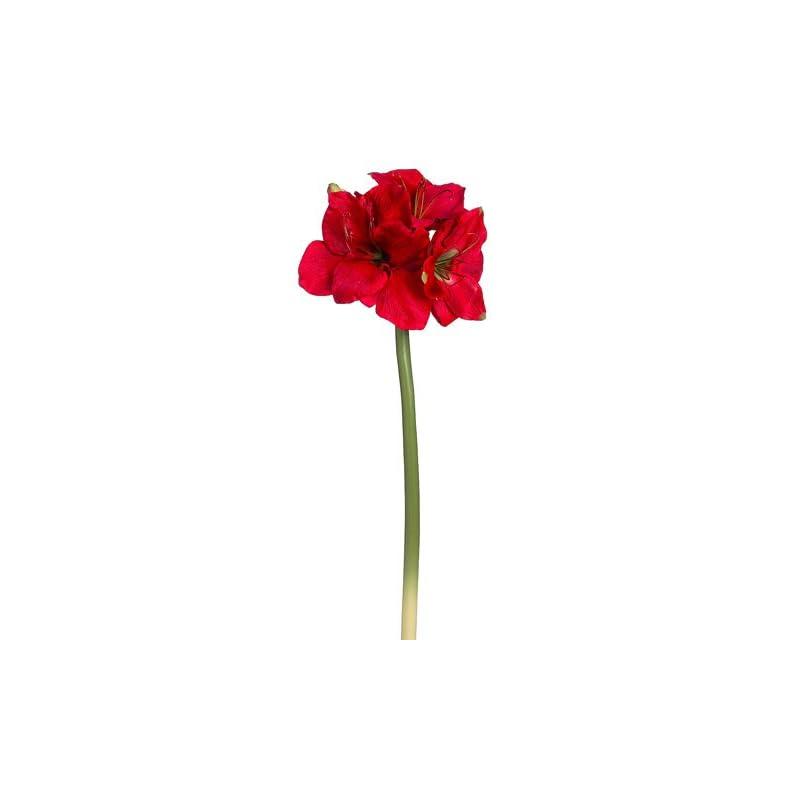 """silk flower arrangements 29"""" amaryllis spray red (pack of 6)"""