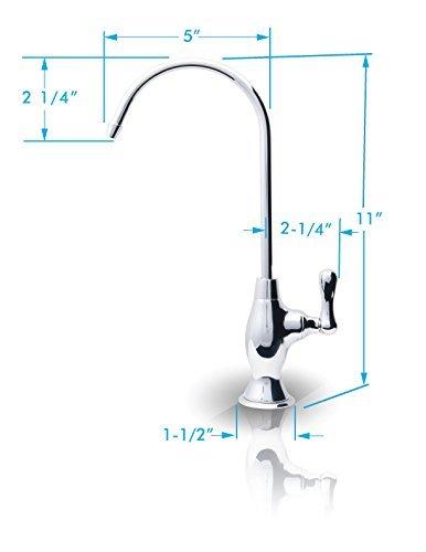 APEC Water FAUCET-CD-COKE-NP Ceramic Disc Designer Faucet Coke Shaped Non-Air Gap Faucet, Brushed Nickel