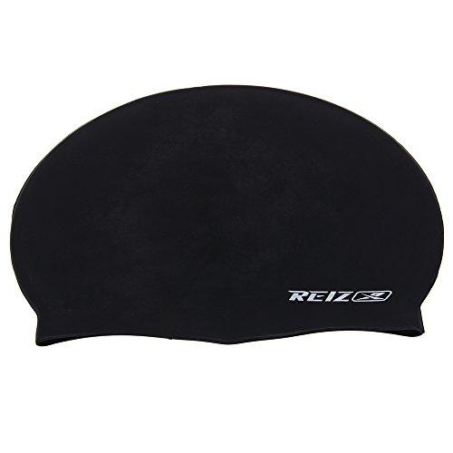 TOMOUNT Women Men Ladies Waterproof Silicone Swim Cap Bathing Swimming Hat Black