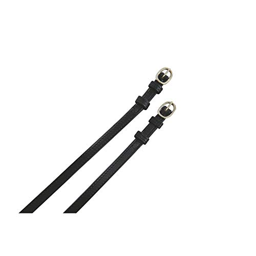 - Kincade Adults Leather Spur Straps (Adults) (Black)