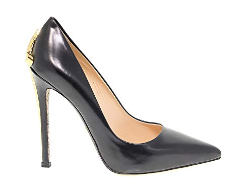 - Cesare Paciotti Women's Pac508012 Black Leather Pumps