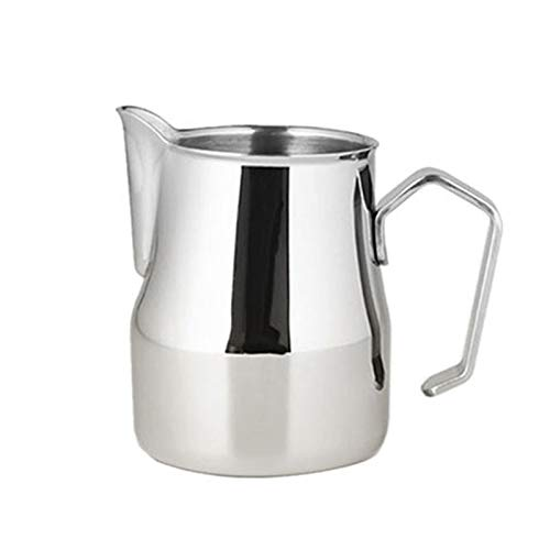 Milk Jugs - Stainless Steel Milk Frothing Jug Thick Coffee Foamer Mugs Latte Art Pitcher Frother Cup - Tall Plastic Jugs Bulk Vintage Stainless Lifs Party Metal Shirt Kids Lids Large Milk Glas ()