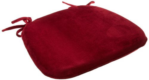 Brentwood Plush Memory Foam Chairpad, Red (Chair Cushion Chair Pad Red)