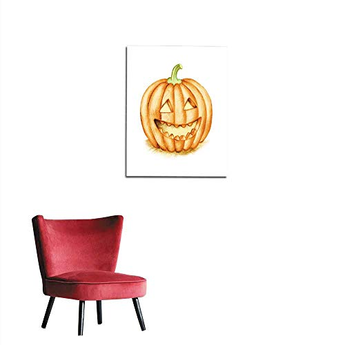 longbuyer Photo Wall Paper Smiling Halloween Pumpkin Hand Drawing Illustration Mural 32