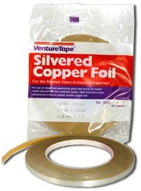 7/32'' Double Sided Silver Foil - 1.5 Mil by Venture Tape