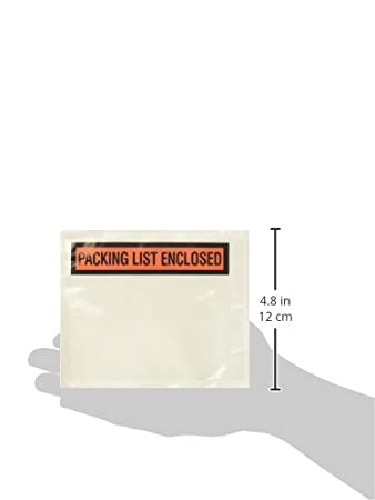 Sales4Less Packing List Envelopes 4.5x5.5 Pouches Invoice Enclosed Adhesive Bags Pack of 100