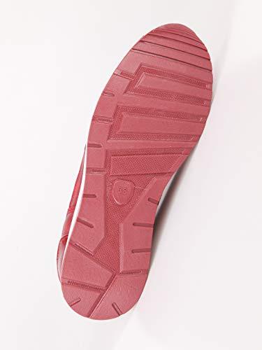 Bordo Strass Ecopelle Casual Con Donna Sneakers fEPcxXWqq