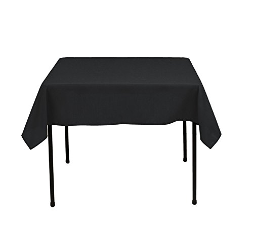 - Gee Di Moda Square Tablecloth - 52 x 52 Inch - Black Square Table Cloth for Square or Round Tables in Washable Polyester - Great for Buffet Table, Parties, Holiday Dinner, Wedding & More
