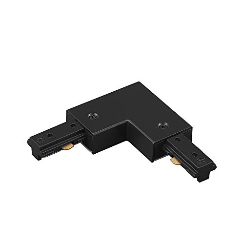 WAC Lighting HL-LEFT-BK H Track Left L Connector, Black