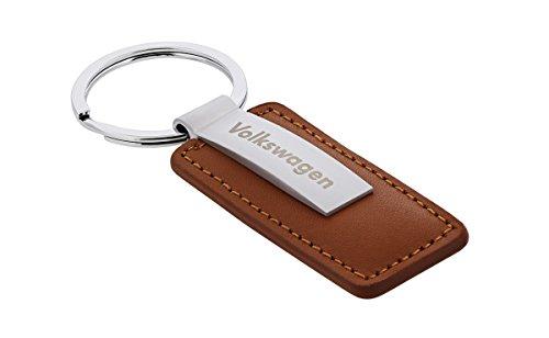 volkswagen-brown-leather-metal-rectangular-keychain