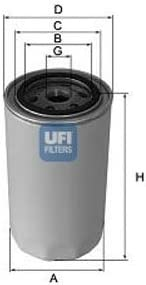 UFI 25.038.00 Filtre /à huile
