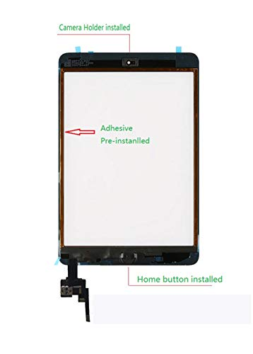FeiyueTech iPad Mini 3 Touch Screen Replacement (Original White), Front Glass/Digitizer Touch Panel IC Chip Connector, Home Button,PreInstalled Adhesive Repair Tool Kit (White) by FeiyueTech (Image #2)