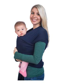 Small to Plus Size Baby Wrap Black Babycarrier Sling Wrap by Cozitot Baby Carrier Nursing Cover Best Baby Shower Gift Stretchy All Cloth Baby Carrier