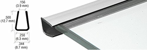 - CRL Chrome Plastic Reflective Edge Mold - 96 in Long
