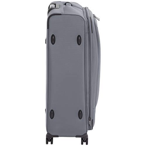 AmazonBasics Premium Expandable Softside Spinner Luggage With TSA Lock- 29 Inch, Grey
