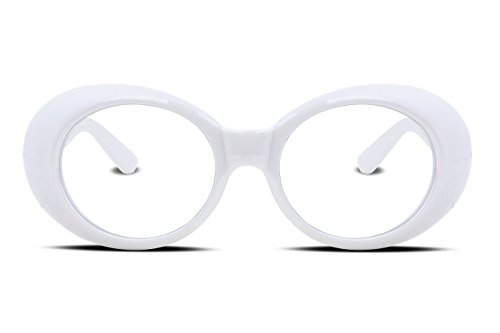 8d92835554 ... FEISEDY Candy Retro Acetate Frame Clout Goggles Kurt Cobain Sunglasses  B2253 White-transparent ...