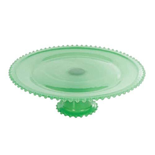 Boleira De Vidro Com Pe 32 Cm Verde
