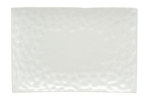 Vanilla Marble - Red Vanilla Marble Rectangular Platter, 12