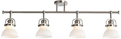 Luca 4-Light Satin Nickel Opal White Shades Track Fixture - Pro Track by Pro Track (Image #1)