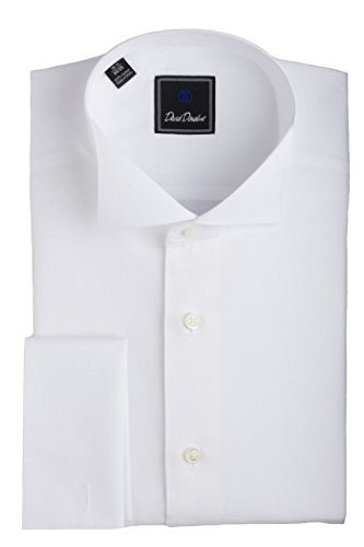 David Donahue Pique Bib Wing Collar Regular Fit Formal Shirt - Size 16.5, 34/35 by David Donahue