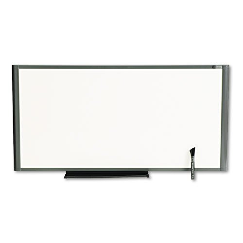 Markerboard, Total Erase, 36 quot;x18 quot;, Graphite Frame (Erase Markerboard Total)