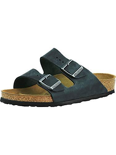 Birkenstock Arizona Black Oiled Leather Sandal 38 N (US Women's 7-7.5) - Leather Black Small