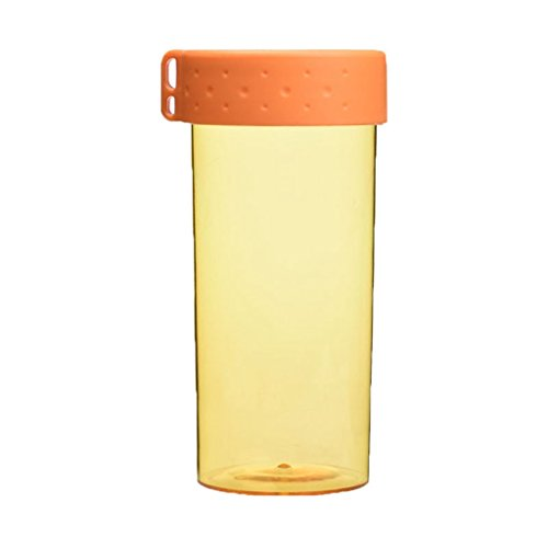 Anshinto Colorful Candy Sand Cup Student Movement Plastic Water Bottle Cup New (Orange)