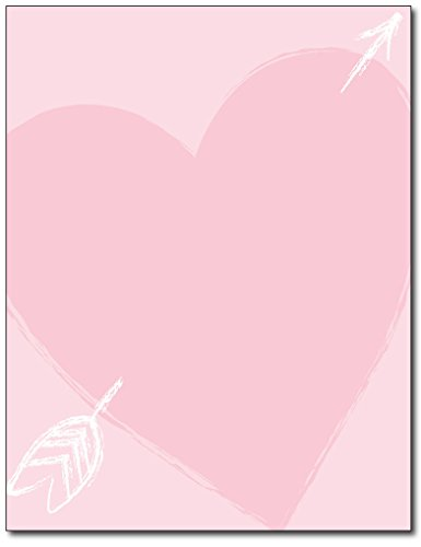 Heart of Love Stationery Paper - 80 Sheets - Great for Valentine's Day Flyers, Letters, or Invitations