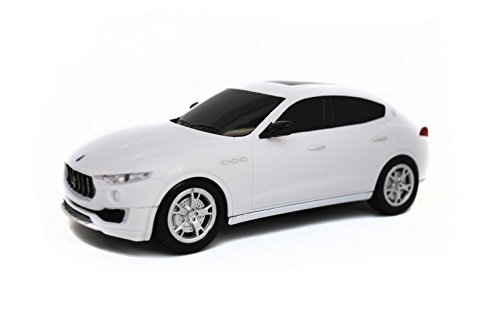 2017 Maserati Levante SUV Electric RC Car Radio Remote Control Vehicle Sport Racing Hobby Grade Licensed Model Car 1:24 Scale for Kids Adults (White)