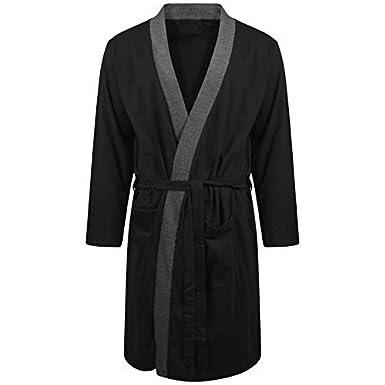 Best Deals Direct UK Insignia Hombre Batas Lighweight Algod/ón Jersey Vestidos