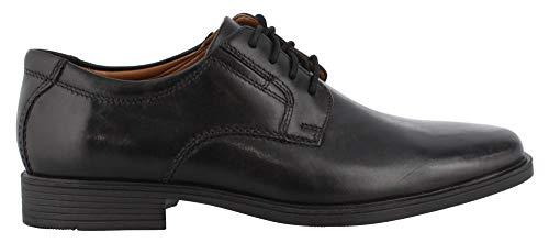 CLARKS Men's Tilden Plain II Oxford, Black Leather, 090 W US
