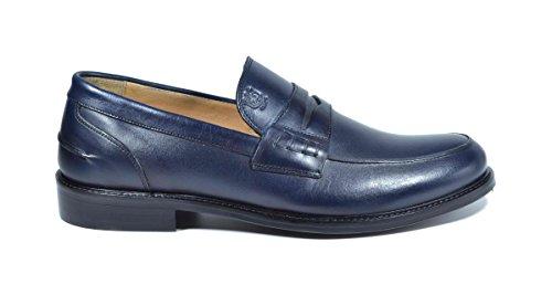Saxone of Scotland mocassino loafer vitello blu
