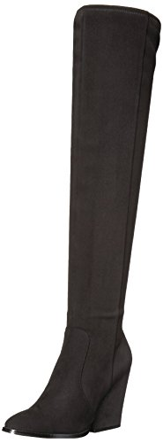 Calvin Klein Women's Catia Over The Knee Boot, Black Stretch Microsuede, 6.5 Medium US by Calvin Klein