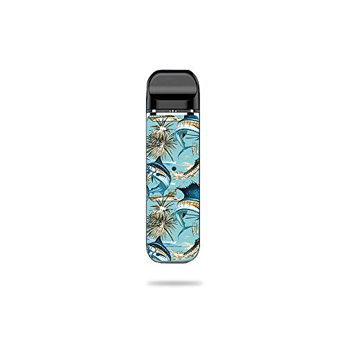 - MightySkins Skin Compatible with SMOK Novo - Island Fish | Protective, Durable, and Unique Vinyl Decal wrap Cover | Easy to Apply, Remove, and Change Styles | Made in The USA
