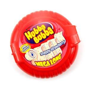 (WRIGLEY'S HUBBA BUBBA STRAWBERRY MEGA LONG TAPE (Pack of 12))