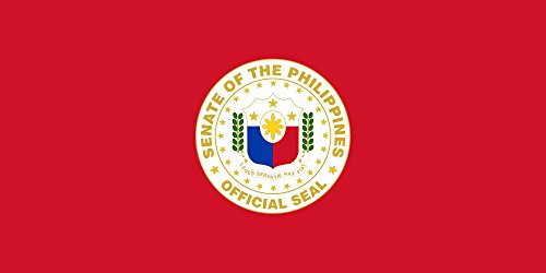 magFlags Large Flag Senate President of the Philippines | landscape flag | 1.35m² | 14.5sqft | 80x160cm | 30x60inch - 100% Made in Germany - long lasting outdoor flag